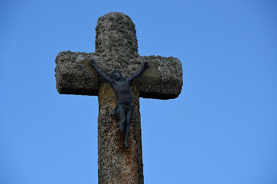 Cross, Christ, Religion, Jesus Christ, Jesus, Sky, Blue