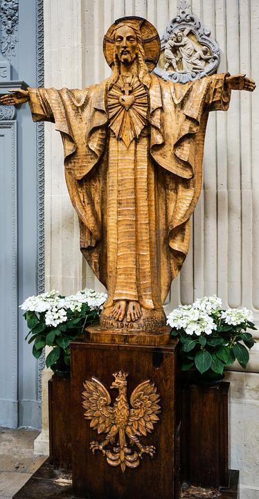 Paris, Statue, From Wood, Christ, Polish, Fig
