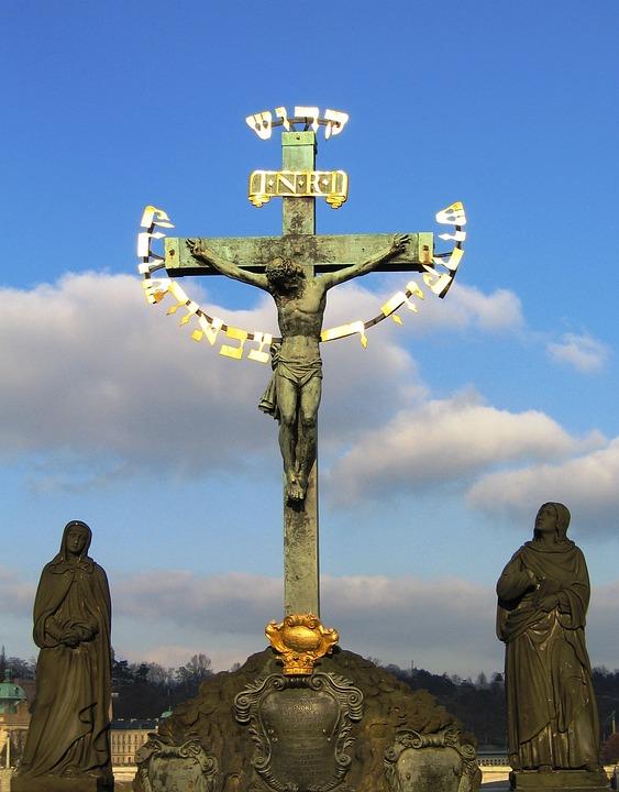 Pax, Jesus, Cross, Christ, Prague, Charles Bridge