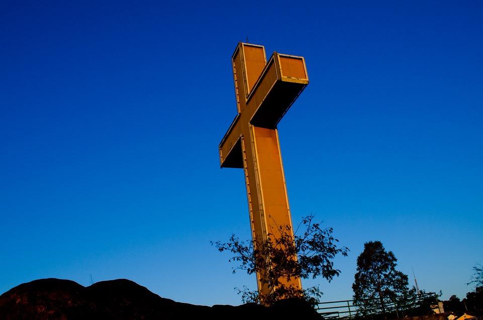 Cross, Sky, Blue, Religion, Christian, God, Christ