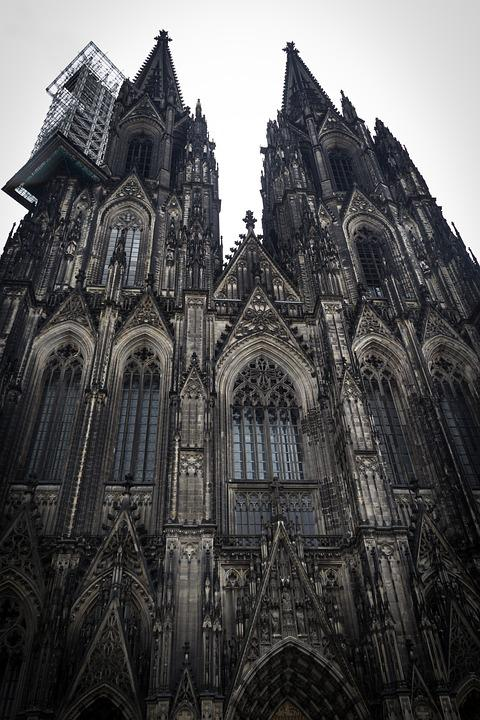 Church, Cologne, Christian, European, Architecture