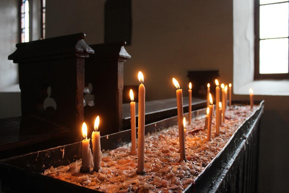 Candles, Church, Religion, Faith, Light, Christian