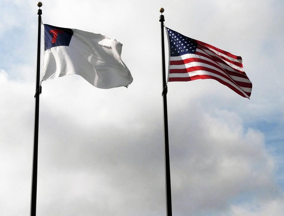 Christian, American, Flag, Religion, Spirituality