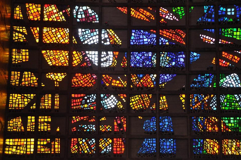 Religious, Church, Glass, Religion, Christian, Window