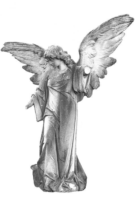 Angel, Angelic, Background, White, Christian, Saint