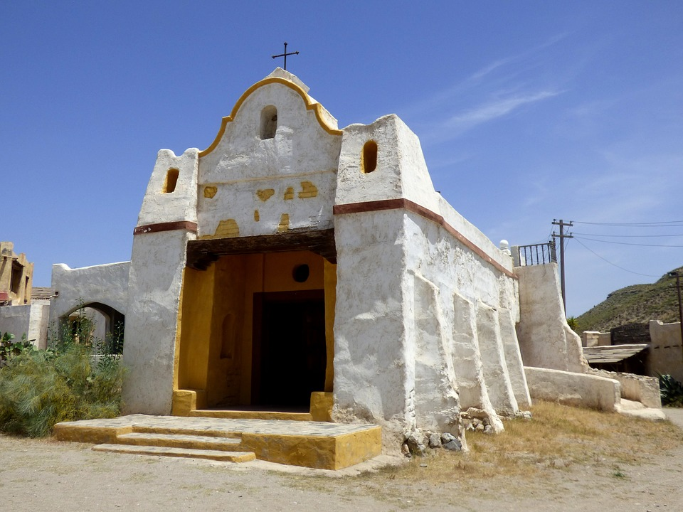 Church, Far West, White, Abandoned, Christian, Ancient