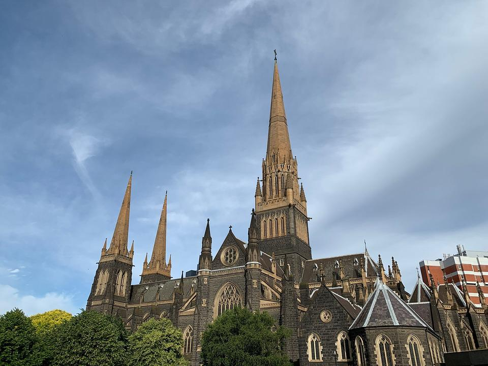 Melbourne, Church, Cathedral, Christianity, Australia