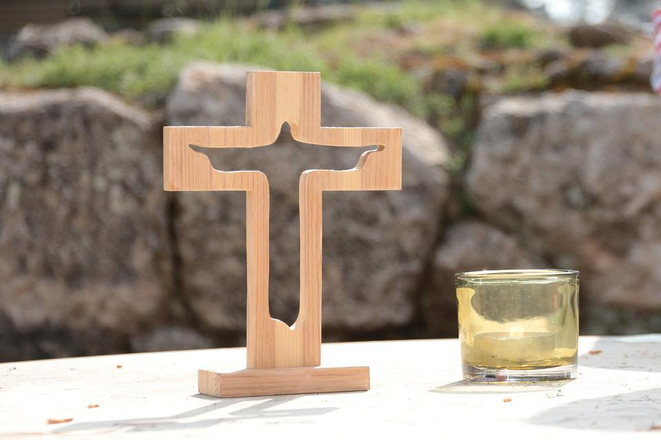 Cross, Altar, Candle, Worship, Christian, Christianity