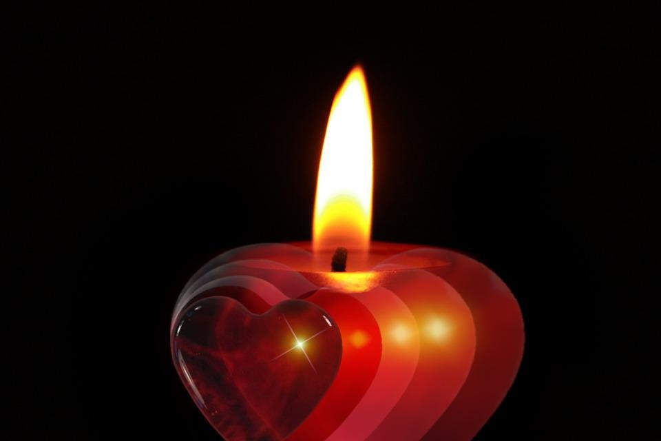 Candle, Advent, Celebration, Christmas, December, Heart