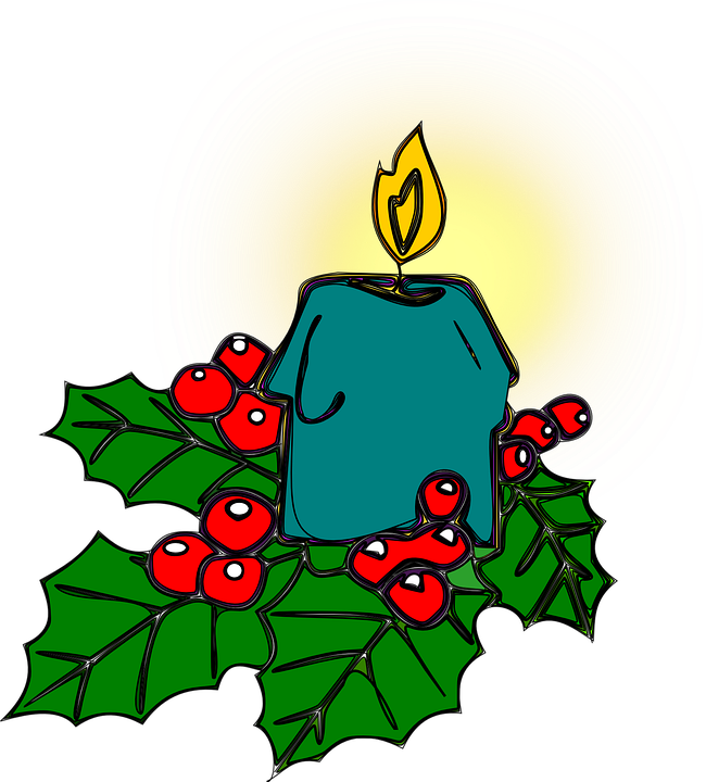 Holly, Christmas, Candle, Decoration, Advent