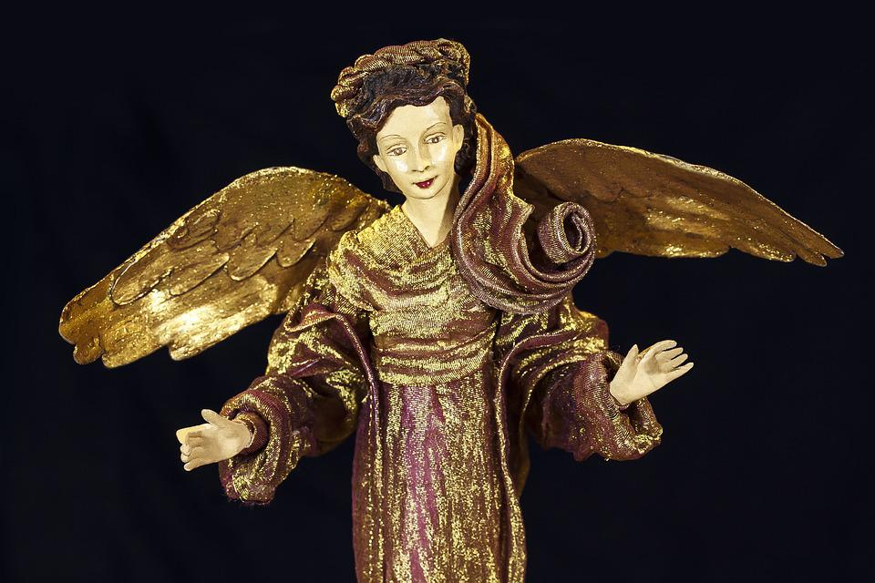 Angel, Old, Antique, Christmas, Deco, Arts Crafts, Art