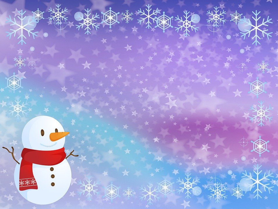 Christmas Background, Snow, Bokeh, Winter, Snowflakes