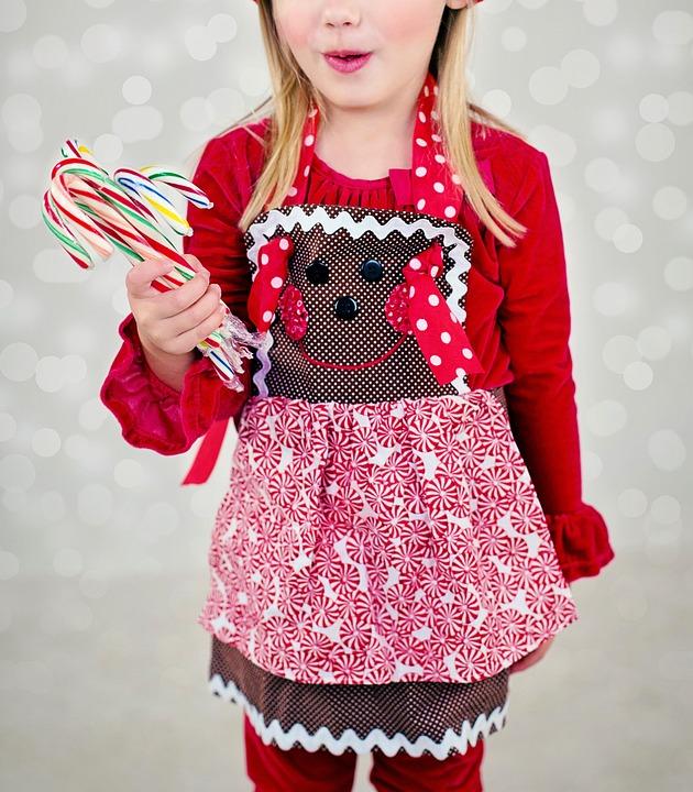 Christmas, Little Girl, Baker, Baking, Apron