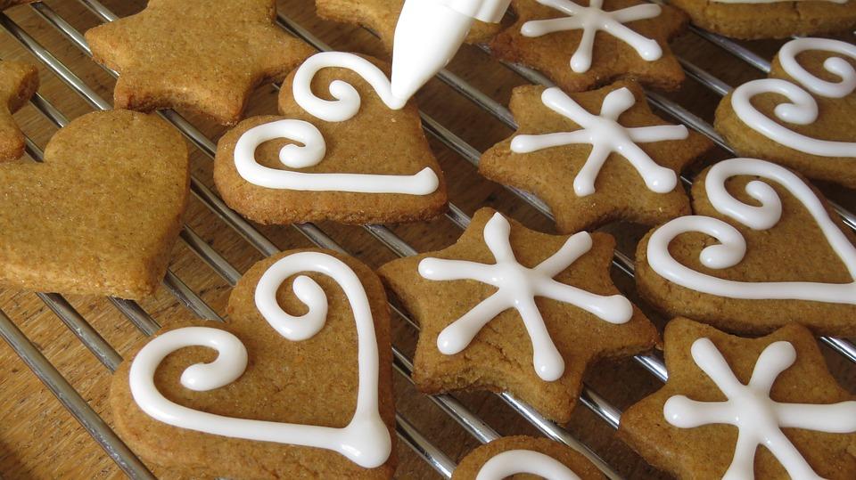 Cookies, Baking, Icing, Gingerbread, Christmas