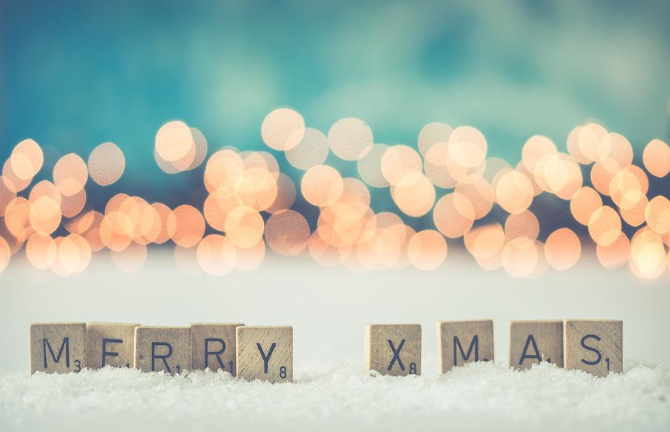 Christmas, Background, Wallpaper, Snow, Color, Blue