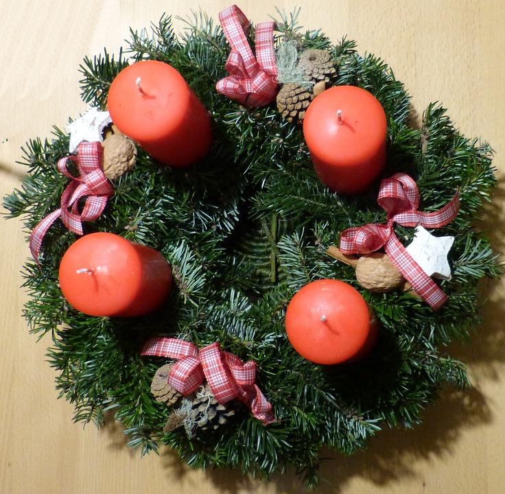 Advent Wreath, Advent, Candles, Decoration, Christmas