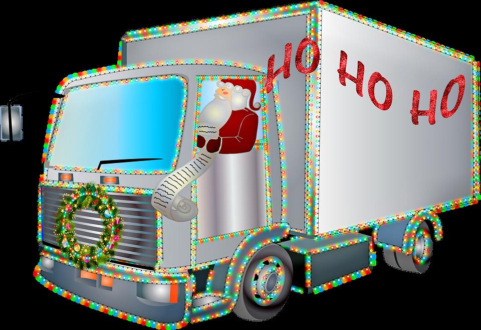 Lorry, Truck, Christmas, Big Rig Truck, Christmas Car