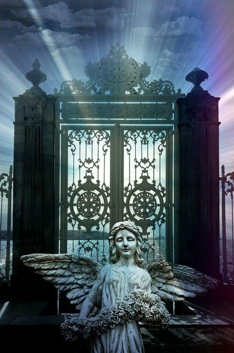 Angel, Goal, Heaven's Gate, Christmas, Christmas Card