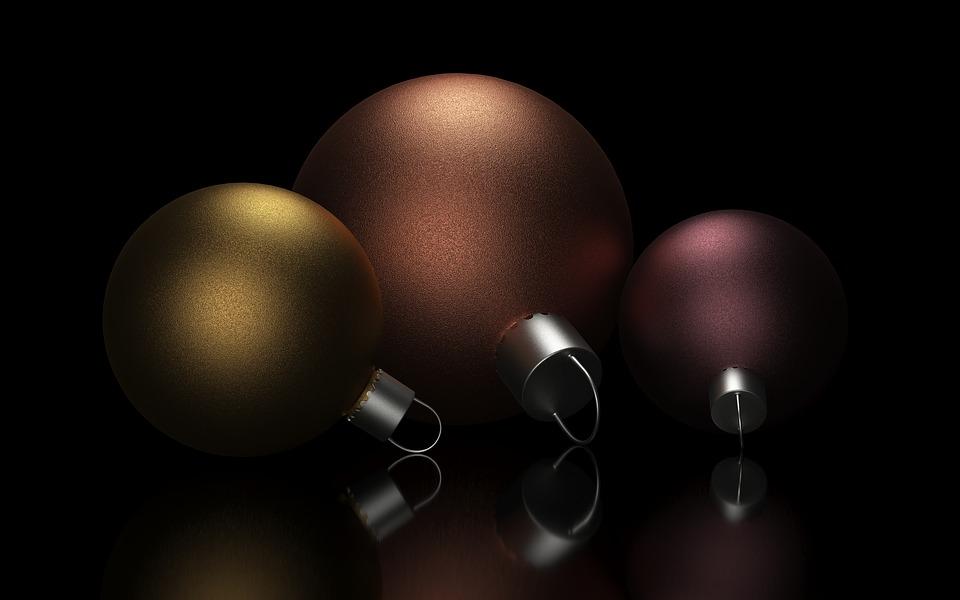 Christmas, Ball, Celebration