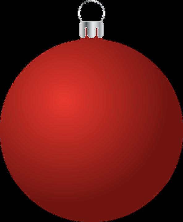 Bauble, Ornament, Christmas, Red, Christmas Ball