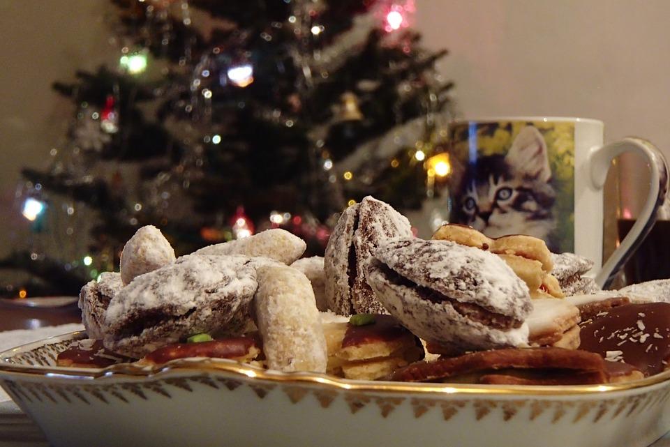 Christmas, Sweets, Cup, Christmas Cookies