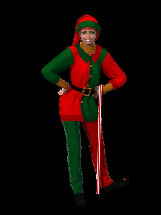Woman, Christmas, Christmas Elf, Fantasy, Female