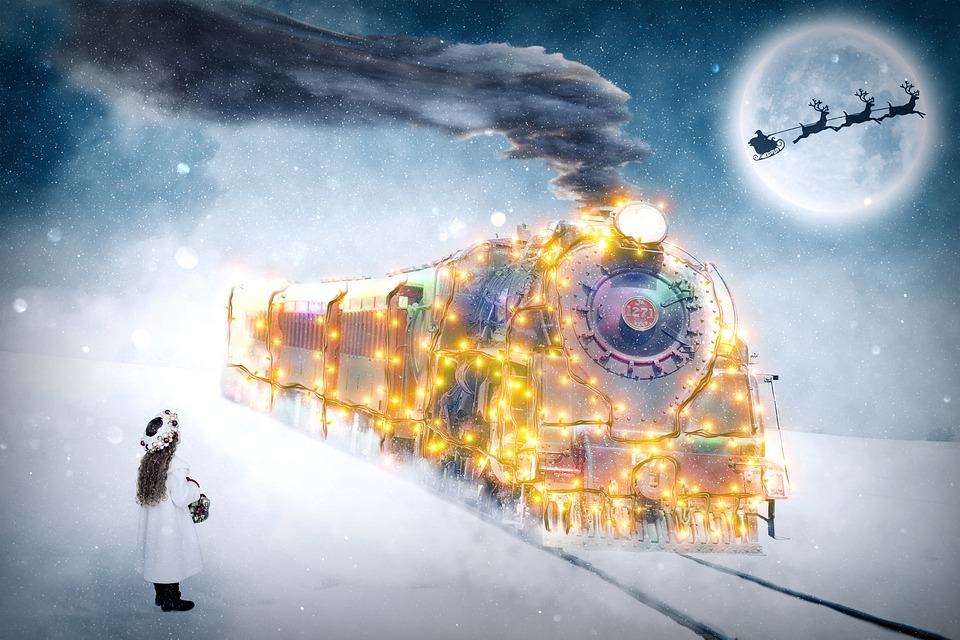 Christmas, Child, Christmas Motif, December, Train
