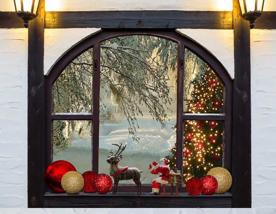 Christmas, Christmas Tree, Window, Christmas Ornament
