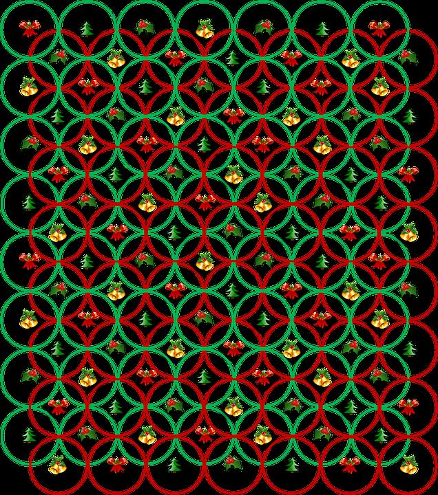 Christmas, Decorations, Background, Circle, Pattern