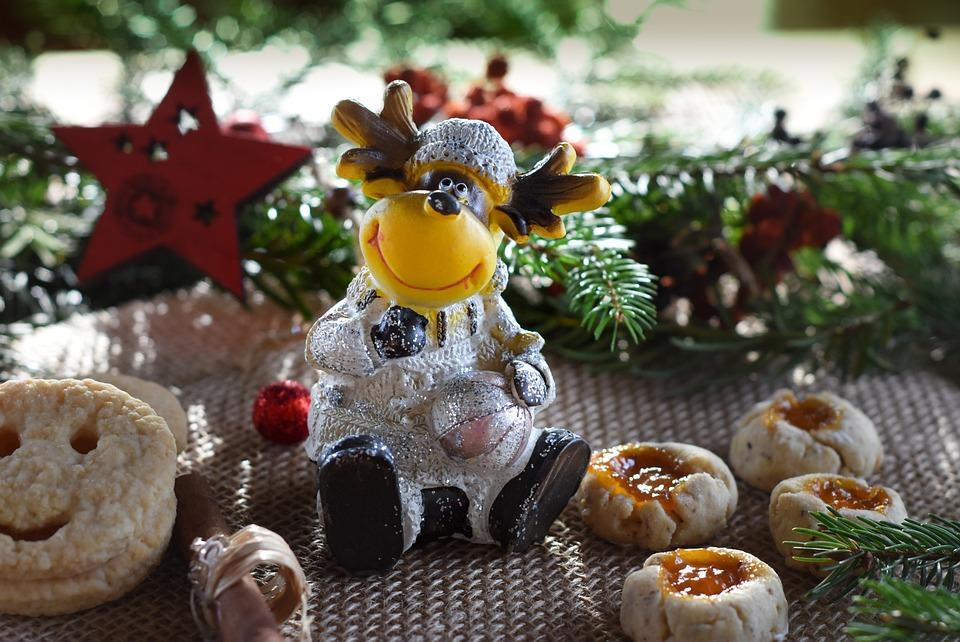 Reindeer, Cookies, Christmas, Christmas Time