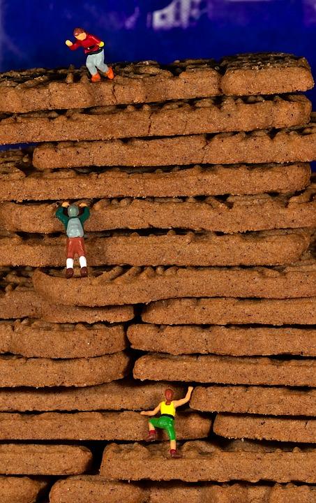 Miniature Figures, Climber, Climb, Christmas Cookies