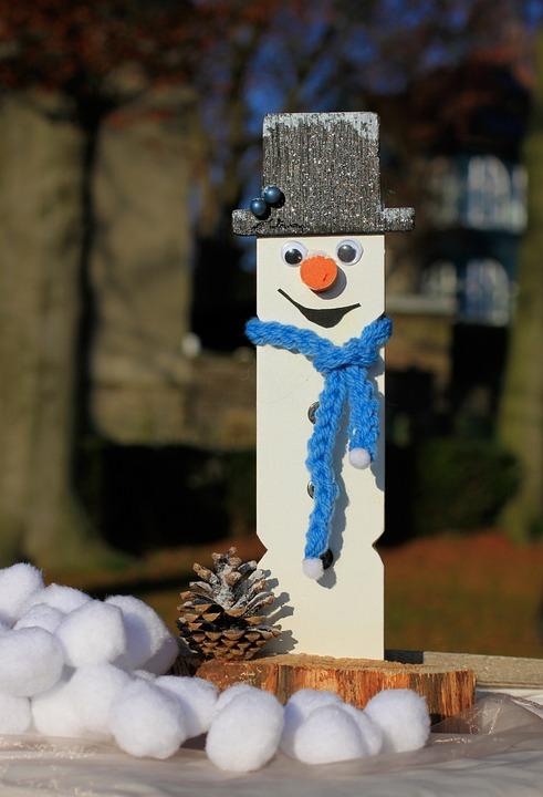 Snow Man, Snow, Scarf, Christmas, Cylinder, Hat