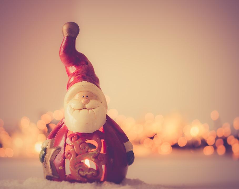 Santa Clause, Christmas, December, Figure, Xmas, Red