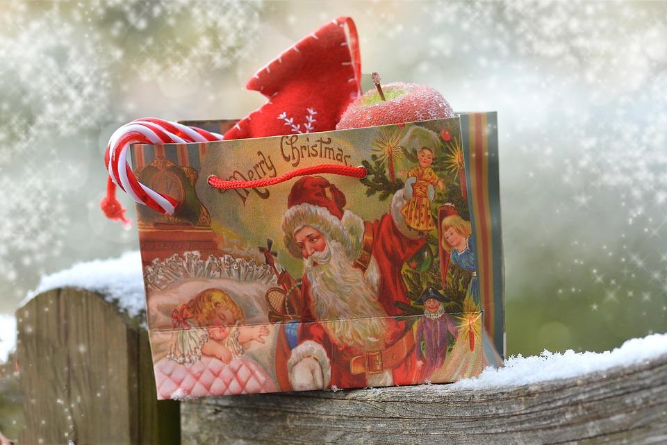 Snow, Christmas, Bag, Santa Claus, Gift