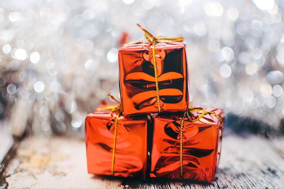 Christmas Present, Gifts, Presents, Shiny, Christmas