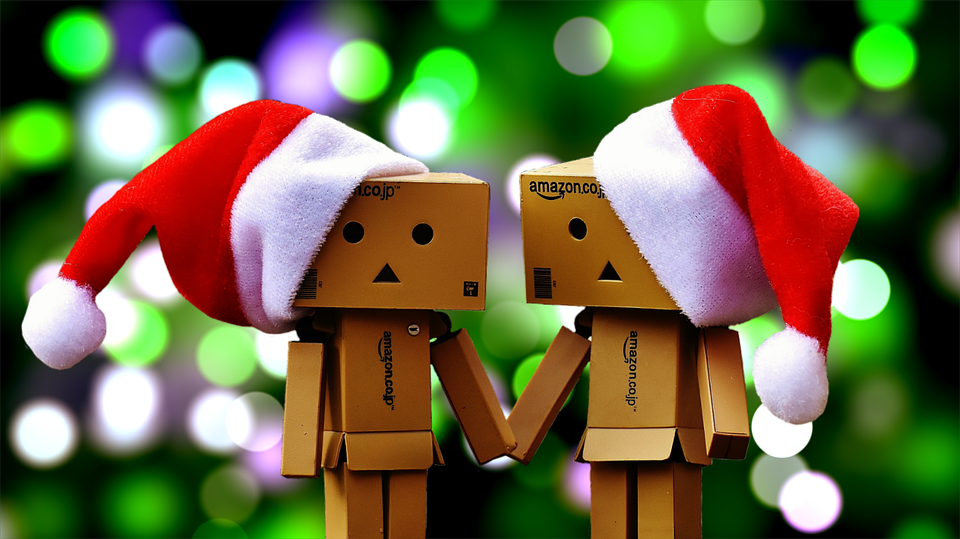 Danbo, Fig, Together, Christmas, Christmas Hats, Fun