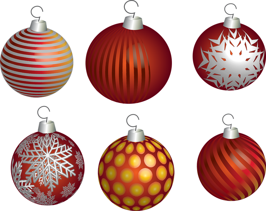 Christmas, Holiday, Ball, Decoration, Ornament, Red