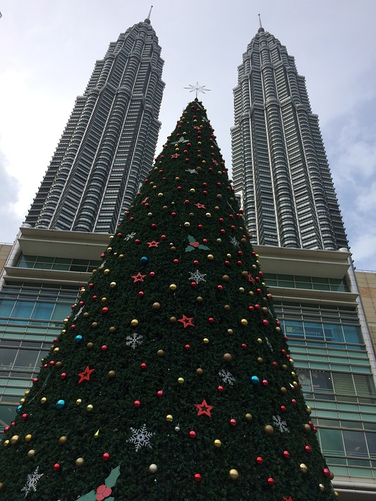 Christmas, Kuala Lumpur, Twin Towers, Malaysia