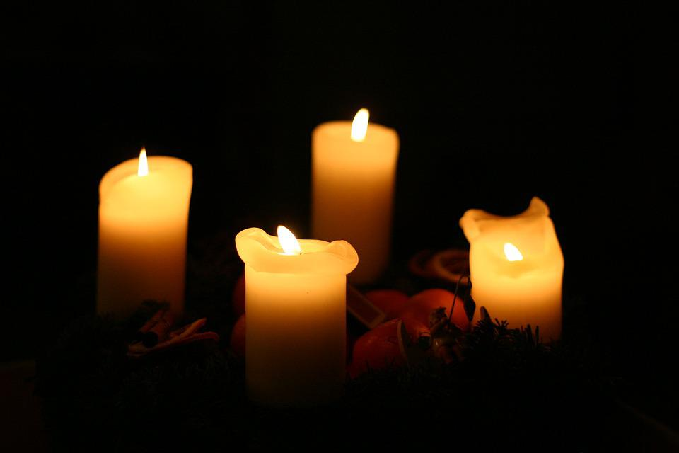 Candlelight, Candles, Christmas, Light, Wax Candles