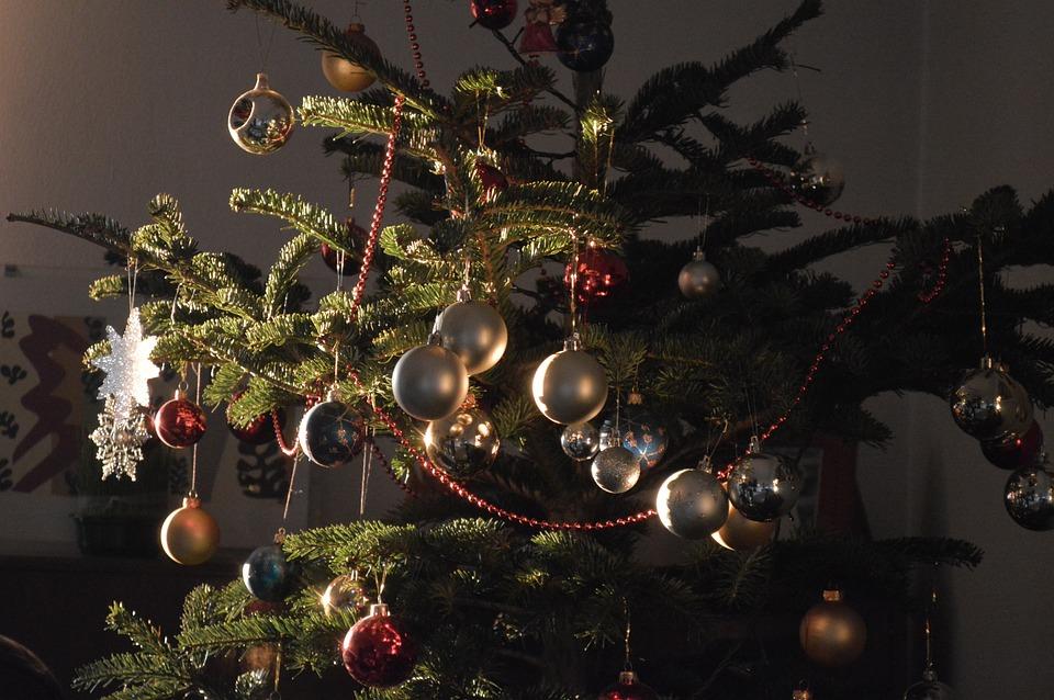 Christmas, Christmas Tree, Ornaments, Lights