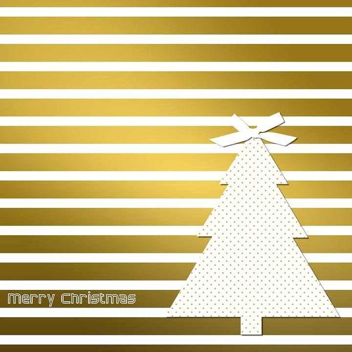 Christmas Card, Christmas, Map, Gold, White