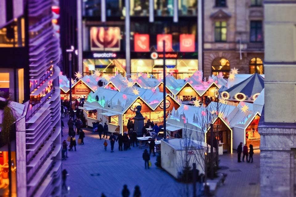 Christmas Market, City, Christmas, Lights, Lighting