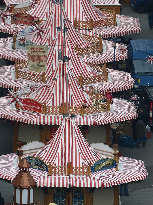 Fair, Christmas Market, Magdeburg, Saxony-anhalt, View