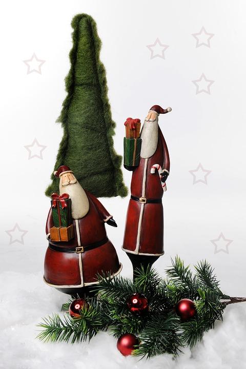 Christmas Motif, Santa Clauses, Christmas, Fig