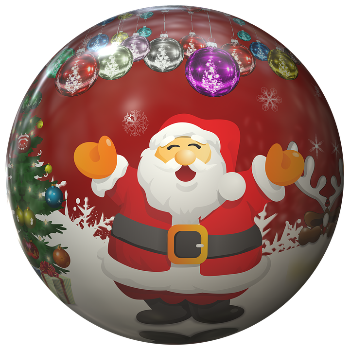 Nicholas, Santa Claus, Ball, Christmas Ornaments