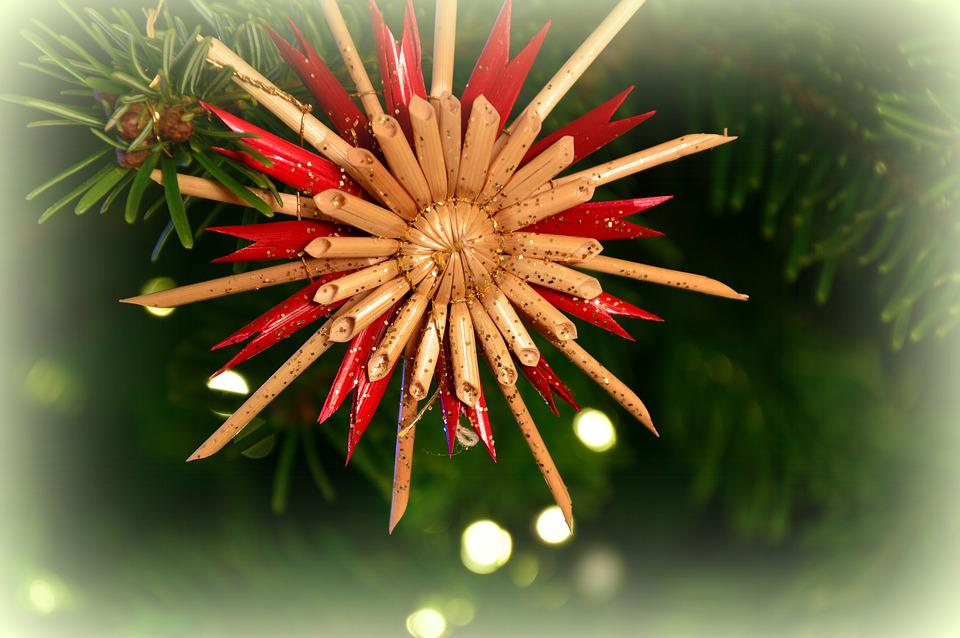 Christmas Picture, Christmas Motif, Strohstern, Star