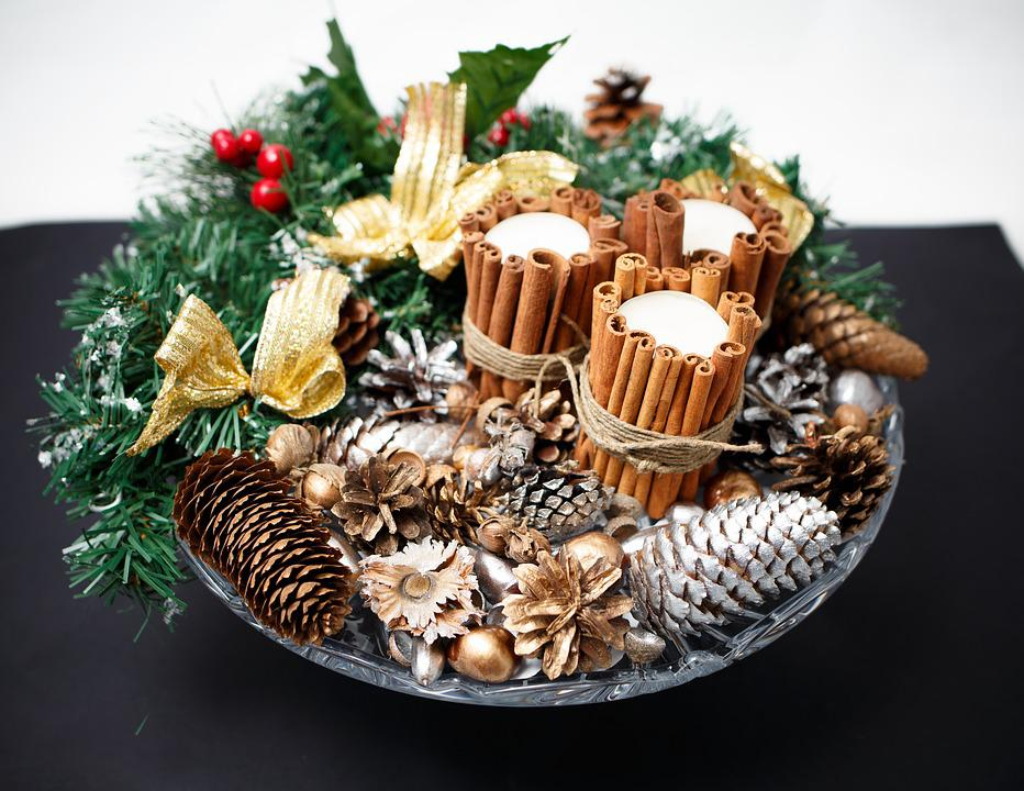 Gift, New Year's Eve, Christmas, Candle, Pine Cone