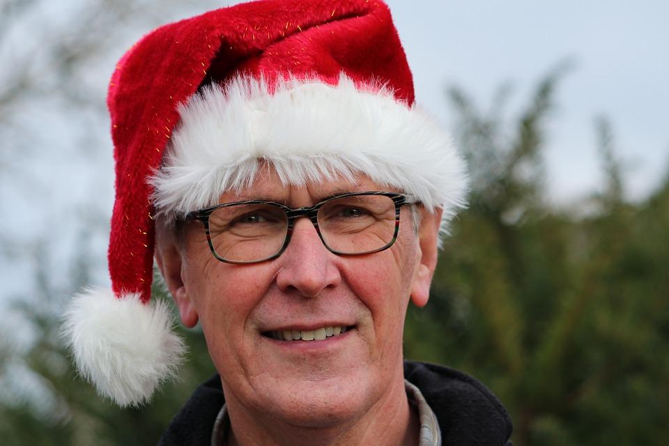 Man, Portrait, Face, Funny, Christmas, Christmas Hat
