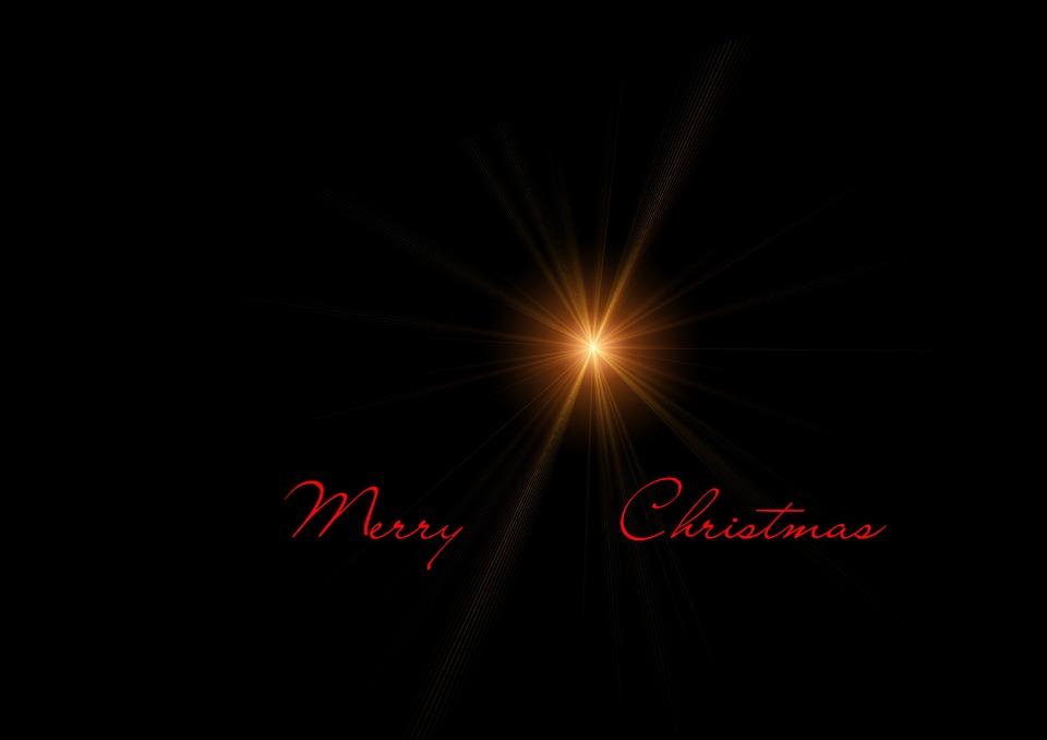 Christmas, Greeting Card, Postcard, Star, Light, Rays