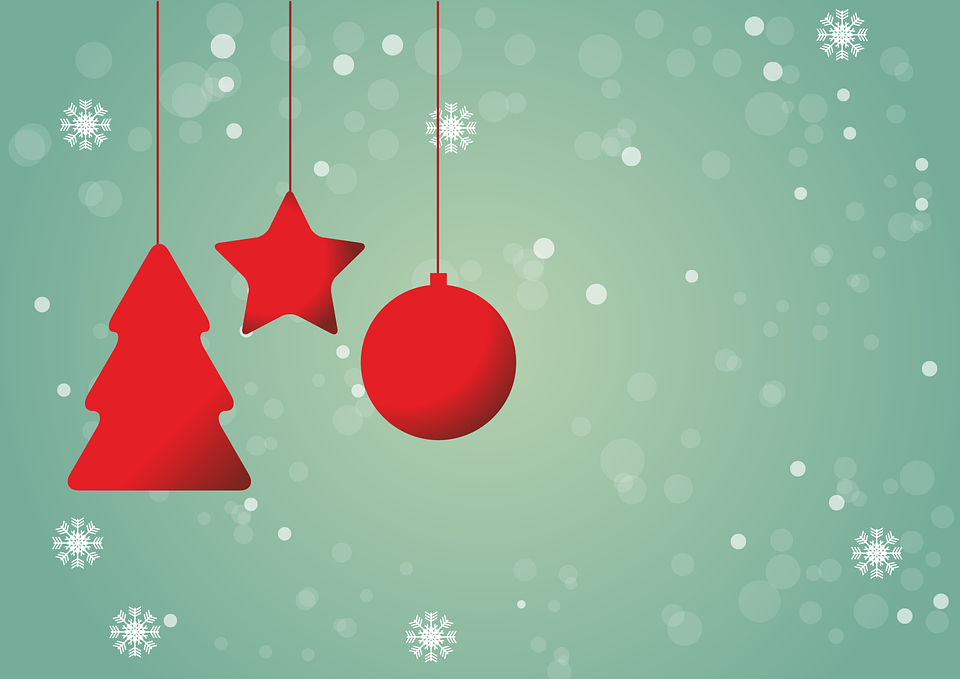 Christmas, Red, Star, Background, Christmas Ornament